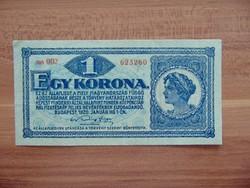 1 korona 1920 aa 002 Szép bankjegy  02