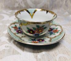 Kézi festésű finom porcelán kávés csésze & alj