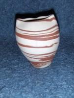 Retro kerámia váza 10 cm magas (12/d)