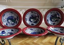 Kézzel festett kerámia tányérok