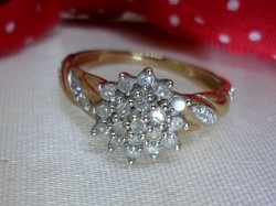 Szépséges 0.41ct brill arany gyűrű