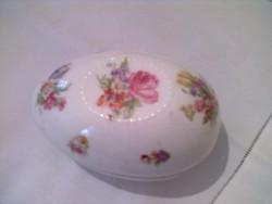 Porcelán tojás fazonu ékszertartó