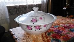 Nagyméretű porcelán leveses tál
