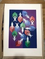 Victor Vasarely szérigráfia