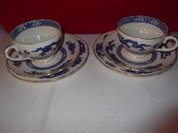 Jelzett angol porcelán teáscsészék!