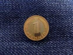 NSZK 1 Pfenning 1978 G, ritkább tükörfényes veret! / id 4658/