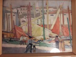 Nyomat a 70-es 80-as évekből - Vaszary János - Piranoi halászbárkák -