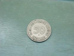 NSZK  50 PFENNIG   1949 F !!!! RITKÁBB! NÉMETORSZÁG