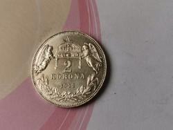 1913 ezüst 2 korona,gyönyörű darab 10 gramm