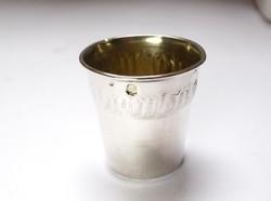 Francia ezüst kupicás pohár.