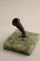 Antik márványtalpas íróasztaldísz/ tolltartó G132