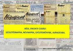 1959.11.26  /  Népsport  /  SZÜLETÉSNAPRA RÉGI EREDETI ÚJSÁG Szs.:  4796