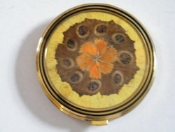 Pillangó díszes tükrös púderes doboz, szelence