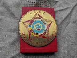 Katonai emlékplakett Győr Néphadsereg 1980 katonai retro  12.