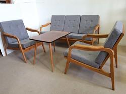 Retro ülőgarnitura kanapé fotel felújítva