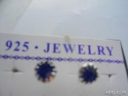 925 -ös JELZÉSŰ bedugós kék fülbevaló
