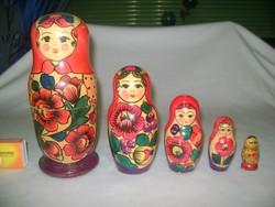 Matrjoska babák - öt darabos sorozat