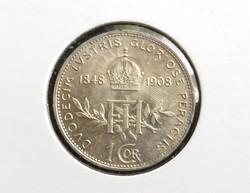 Verdefényes osztrák ezüst 1 Korona 1908.
