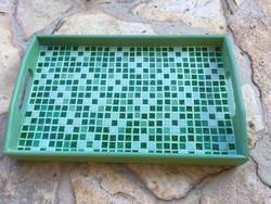 Egyedi stílusos Kézműves ajándék Zöld üveg Mozaik fa tálca