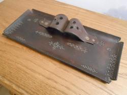 Tolltartó asztali iparművészeti bőr 35*15*5 cm