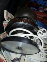 Szép rézlámpa, kb.30 cm magas, hibátlan, koszos búrával