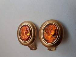 Szép állapotú márka jelzett  Párizsi Kámea köves fülbevaló biztonságos kapoccsal