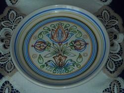 Kispest,Gránit kézi festésű jelzett fali tányér