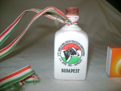 Retro porcelán emlék butella - 1992 Budapest  Hungary