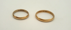 Arany 18 karátos gyűrűk Jelzett 8,4 g