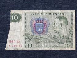 Svédország 10 Korona bankjegy 1987 / id 12889/