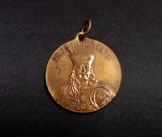 Pro Libertate, a kassai Rákóczi kiállítás emlékére 1903, bronz emlékérem, 30 mm.