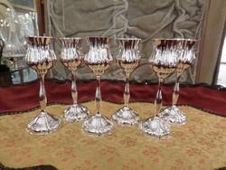 6 db ezüst likőrös pohár