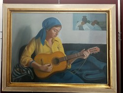 Mácsai István Lány gitárral