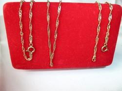 Arany nyaklánc karkötővel