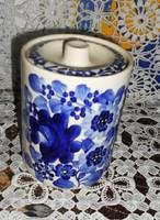 FEDELES kék virágos kerámia TÁROLÓ 20 x 11 cm