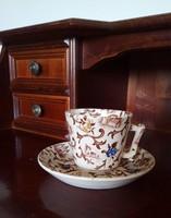 Antik fajansz hosszúkávés / teás csésze