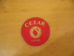 Retro CEZAR VINJAK  poháralátét söralátét átm. 10 cm