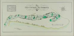 0Y826 THE OLD COURSE ST. ANDREWS golfpálya térkép