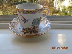 Kézzel festett Aranyzománc Paradicsom madár,krizantém minták,kézzel jelzett kínai teás készlet