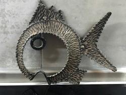 Iparművészeti  falidísz vasból