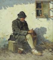 Szlovák vagy Lengyel festő 1930 körül : Drótostót