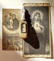 Régi szelence St Antonius mini Szent Antal vallási fém kegytárgy vintage miniatűra