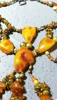 Antik Borostyán nyaklánc különleges darab