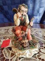 Nagyméretű Capodimonte favágó figura 19 cm