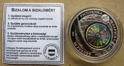 Belorusz/Fehéroroszország/ hologramos ezüst 20 rubel, 2010, Constitution vitorlás.