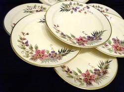 Gyönyörű kézzel festett Zsolnay süteményes készlet