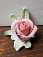 Ens rózsa jelzett antik kézzel festett porcelán