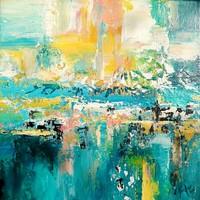 KÜLÖNLEGES AJÁNLAT! MODERN Szignózott eredeti absztrakt festmény Közvetlen a művésztől!