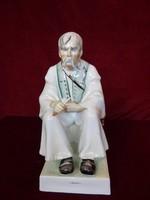 Zsolnay porcelán szalonnázó juhász, magassága 32 cm. Vitrin minőség
