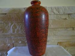 Piros Tófej kerámia váza